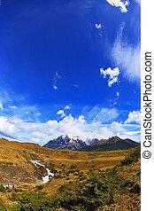 The  park Torres del Paine, Patagonia