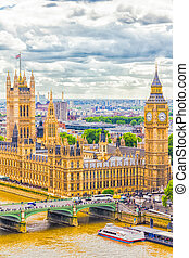 The Parliament and The Big Ben, London