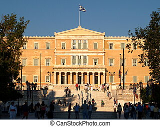 Syntagma of Athens - The parliament greek in the square...