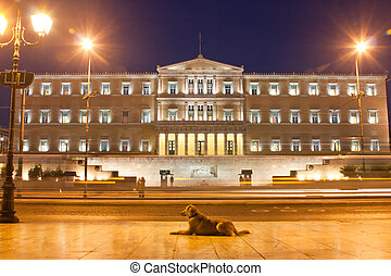 The Parliament in Athens - The Parliament building in Athens...