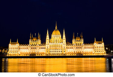 The  Parliament in Budapest by night