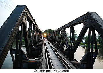 the part of dead rail way and train over the river