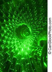 traffic light - the part of green traffic light close up