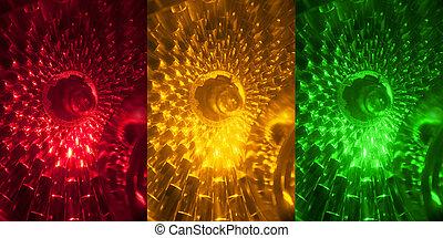 traffic light - the part of traffic light close up