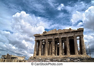 Image of the Parthenon, in the acropolis