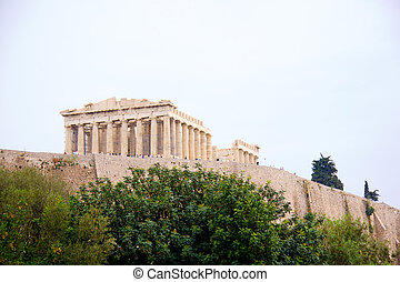The Parthenon, in Athens Akropolis, Greece