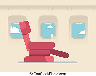 The passenger seat in airplane business class