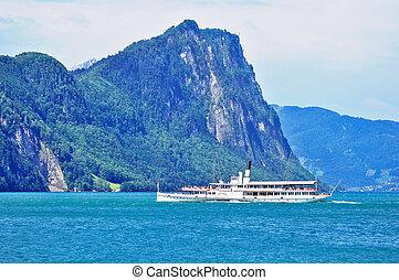 The passenger tourist steam boat. - The passenger tourist...