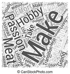 The Passion and the Hobby of Vegetarianism Word Cloud Concept