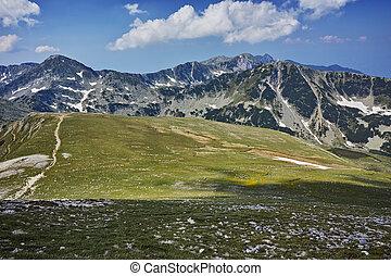 The path for climbing Mount Vihren
