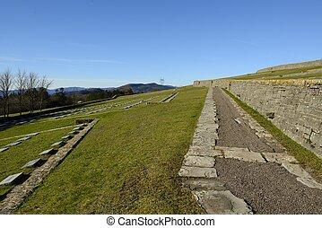 The path in the German war cemetery in Futa pass - Path in ...