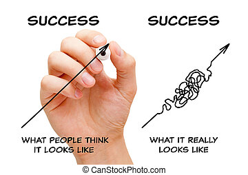 The Path To Success Arrows Concept