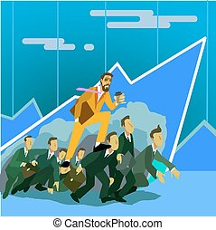The path to success. Business concept illustration