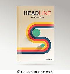The path to success retro graphic design for the book.