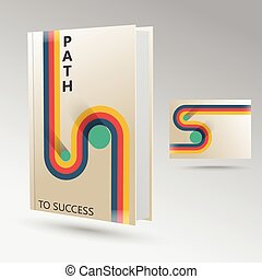 The path to success retro graphic design for the book.
