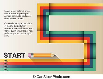 The path to success retro graphic design