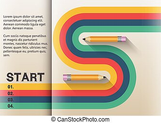 The path to success retro graphic design