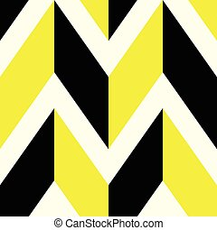 The pattern in which black and yellow lines