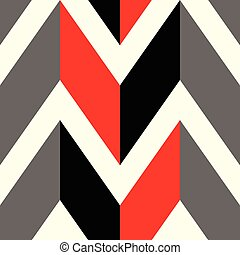 The pattern in which red, black and gray lines
