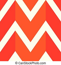 The pattern in which the red, orange and white lines
