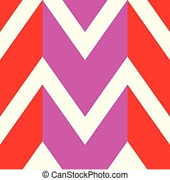 The pattern in which the red, pink and white lines