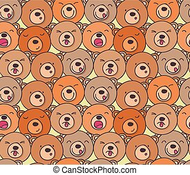 The pattern of funny bears