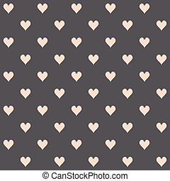 The pattern of hearts