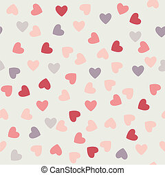 the pattern of hearts to Valentine