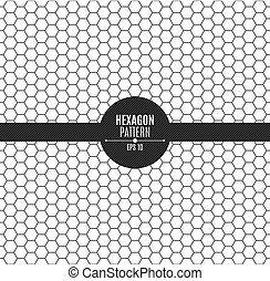 The pattern of honeycomb is black. Background for your project. Black on white