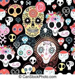 The pattern of skulls