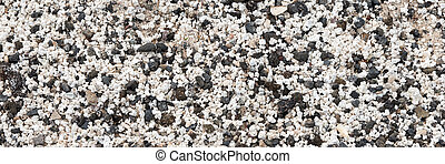 Black and white small pebbles