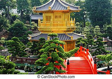 The Pavilion of Absolute Perfection in the Nan Lian Garden, Hong Kong.
