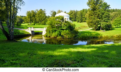 The Pavlovsk parkland in St. Petersburg, Russia