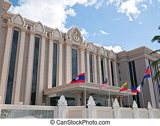 The Peace Palace in Phnom Penh, Cambodia