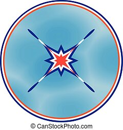 The peace symbol in tricolor.