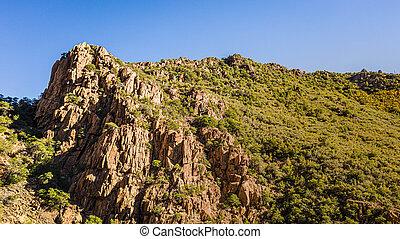The peak of a mountain in Arizona