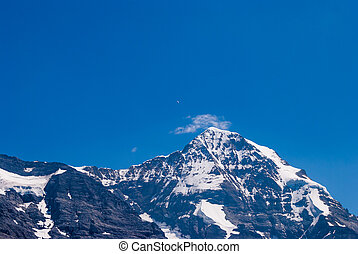 the peak of the Monch, Grindelwald, Bernese Alps, Switzerland, Europe