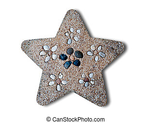 The Pebble star isolated on white background