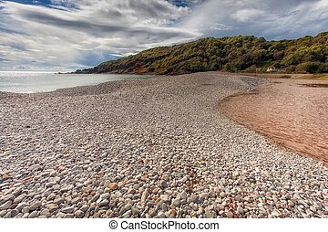 The pebbles of Pwll Du Bay