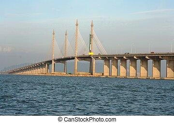 The Penang Bridge , longest bridge in south east asia -...