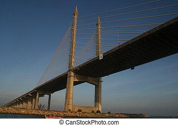 The Penang Bridge , longest bridge in south east asia