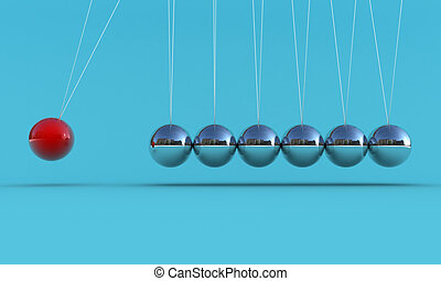 The pendulum - Illustration of the pendulum on a blue...