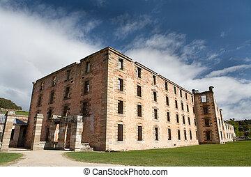 Port Arthur - The penitentiary building at Port Arthur in...