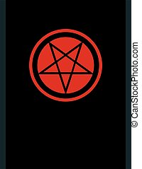 The Pentacle of Dark Art. The Title Pentagram inverted ? Ancient Emblem of Witchcraft and Necromancy, Sign of Black Magic Rituals, Mystical Occult Symbol of Wiccans, Illuminati and Freemasonry.