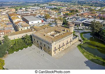 The Peralada castle is located in Peralada Catalonia Spain. It was originally build in IX.