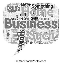 The perfect Home Business Is it right for you text ...