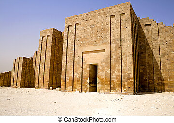 The Perimeter Wall of The Step Pyramid - Image of the...