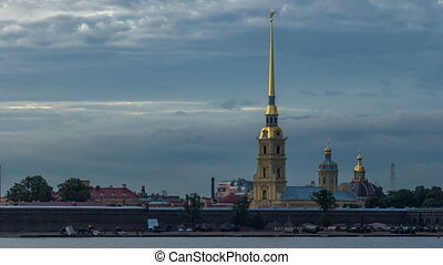 The Peter and Paul Fortress day to night timelapse is the...