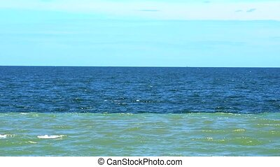 The phenomenon of sea water depends on the fresh water...
