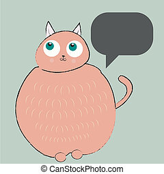 the philosopher cat - a fat pink cat thinking and wondering...